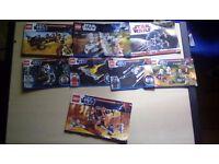8 lego instruction booklets (star wars)