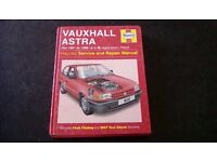 Haynes Manual Vauxhall Astra Oct 1991 to 1996