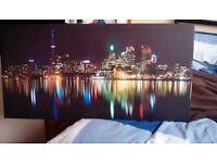 TORONTO CITY PANORAMA - Premium canvas art print Wall-Deco XXL
