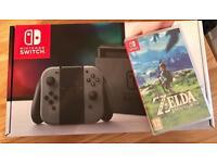 Brand new in box Nintendo switch and zelda