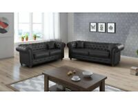🍺New Huge Sale !!! Brand New CHESTERFIELD 3+2 Seater Sofa's on Discounted Price !! Book Now🍺