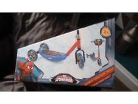 Spider-man 3 wheel scooter