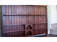 Lovely old wooden kitchen shelf