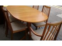 Nathan extendable teak dining table, good condition