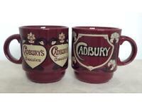 2 Vintage Cadburys Chocolate Kilncraft Mugs, Staffordshire Potteries Collectable