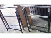 Work horses / work bench telescopic tressel tables