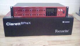 Focusrite Clarett 8 Pre X thunderbolt interface