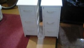 Two White Storage Cupboards