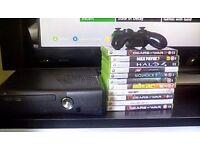 Xbox 360 Slim + GAMES & BOX