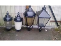 Old and new fashond garden lighting