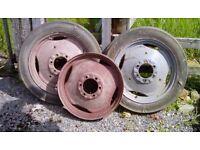 Massey Ferguson Tractor wheels x3