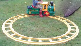 Battery operated ride on Peg Perego Choo Choo train with battery and charger.
