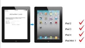 ICloud removal/bypass for ipad 2/3/4 or iPad mini SIM ONLY VERSION . GUARENTEED REPAIR!!