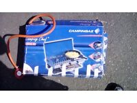 Camping cooker grill an gas bottle