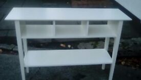 Sideboard unit white very good condition also small white dressing table or desk