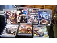 PLAYSTATION 3 GAMES X 7 LEGO LORD OF RINGS,DC UNIVERSE,STREETFIGHTER,