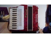 Pearloid Red Parrot Accordion