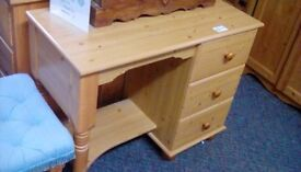 Pine Dressing Table With Stool #30390 £35