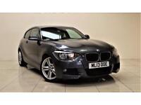 BMW 1 SERIES 2.0 116D M SPORT 3d 114 BHP + AIR CON + AUX + LEAT (grey) 2013