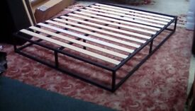 King-Size Metal Platform Bed Frame (#39986) £75 (flat packed as new)