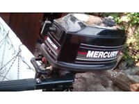 4 hourse mercury outboard engi e nothi g wrong with it good solid lil engine 80 pounds takes it