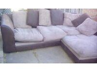 Biege corner sofa