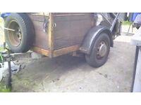 A car trailer heavey dutie 6x4,feet leaf springs rear lights