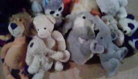 Large selection of cuddly toys