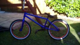 Mafiabikes kush 2.5 20 inch Blue BMX bike in excellent condition that has been hardly used.