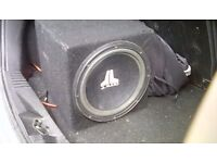 subwoofer jl audio and in-phaze amp