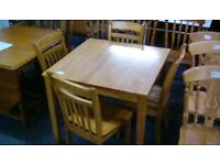 Dining Table & 4 Chairs (#42727) £125
