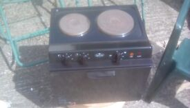 Baby Belling compact two ring cooker.