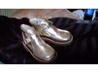 Gold toddler shoes 10
