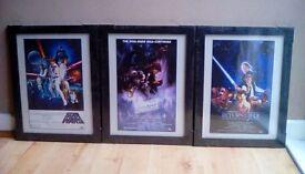Official Framed Original Trilogy Star Wars prints