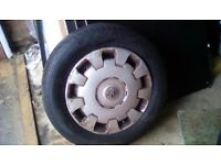 Vauxhall zafira a wheels and tyres
