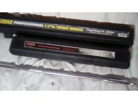 "Professional 1/2"" torque wrench and 1 1/2"" drive torque wrench"