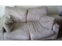 2 seater sofa and storage foot stall