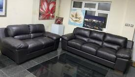 Large size 3&2 seater brown DFS Best Quality Italian Leather Designer sofa set