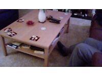 Large Ikea coffee table.