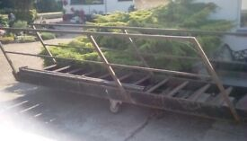 14 Steps, 15 foot length Mezzanine Steel Staircase. Very good condition. Buyer to collect.