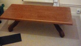 Oak coffee table heavy lovely large £50