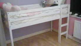 Mid Sleeper single white bed