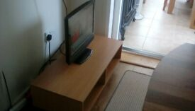 19inch colour tv and small tv unit