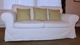 Ikea (Ektorp) two seater sofa with removable covers