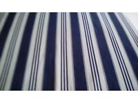 Ektorp blue and white striped sofa bed cover