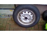 Hyundai accent tyre and steel wheel