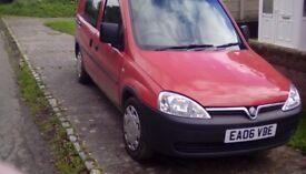 Vauxhall combo crew van