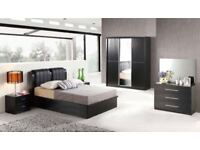 BRAND NEW SOLID WOODEN DOUBLE KINGSIZE OTTOMAN LIFT UP STORAGE BED FRAME WITH MATTRESSES OF CHOICE
