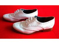 Ladies White Patent Shoes