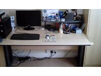 Large office desk and office chair